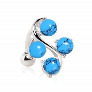achat piercing nombril invers style vigne perles de turquoise. Black Bedroom Furniture Sets. Home Design Ideas
