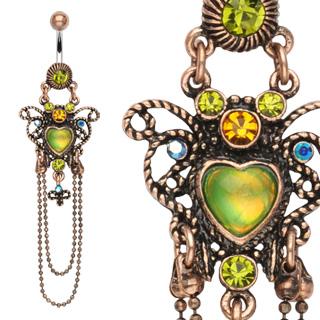 Piercing nombril pendentif vintage
