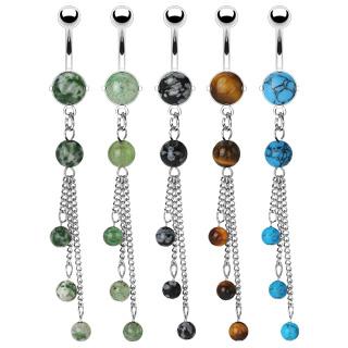 Piercing nombril pierres en perles