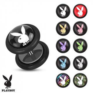 Piercing oreille style faux plug avec lapin Playboy