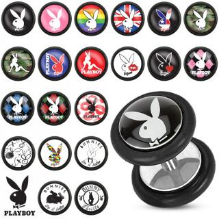 Piercing oreille style faux plug  avec logo Playboy