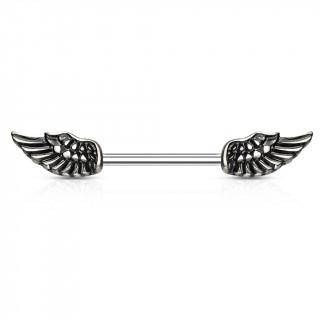 Piercing téton à ailes d'ange vintage