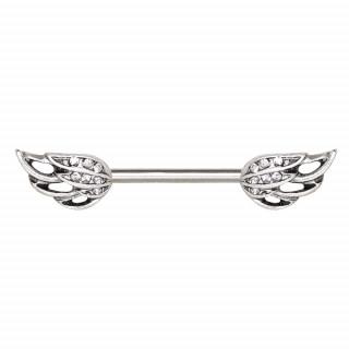 Piercing téton à ailes d'ange droites