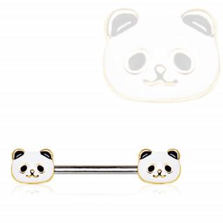 Piercing téton duo de pandas