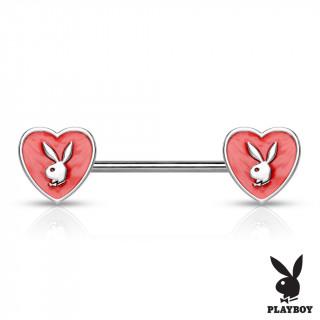 Piercing téton embouts coeur rouge lapin playboy