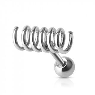 achat piercing tragus cartilage en forme de spirale style ressort. Black Bedroom Furniture Sets. Home Design Ideas