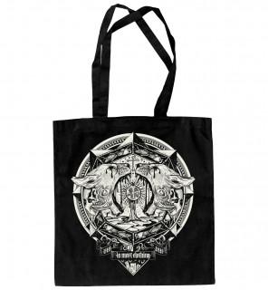 Sac de shopping gothique à imprimé blanc Locusts (BW/B) - LA Mort Clothing