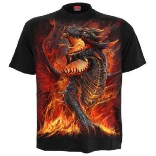 T-shirt enfant à Dragon débordant de lave