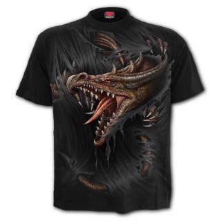 T-shirt enfant à dragon déchirant le vêtement