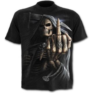 T-shirt homme avec la Mort faisant un fuck