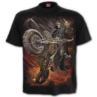 T-shirt homme avec La Mort sur sa moto apocalyptique