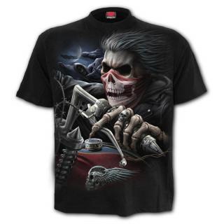 T-shirt homme à biker revenant d'entre les morts