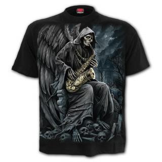 T-Shirt homme gothique avec La Mort au saxophone