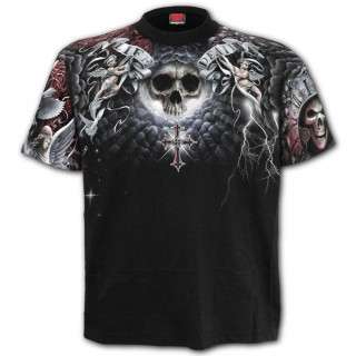 "T-shirt homme gothique ""Life and death cross"""