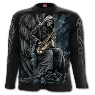 T-Shirt homme manches longues avec La Mort au saxophone