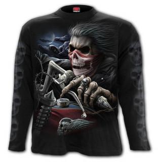 T-shirt homme manches longues à biker revenant d'entre les morts