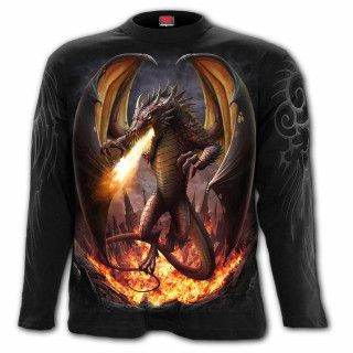 T-Shirt homme manches longues à dragon libéré de sa prison