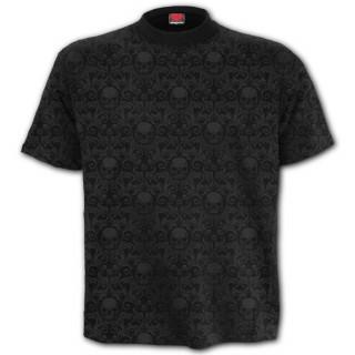 T-shirt homme noir à imprimé cranes