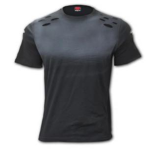 """T-shirt homme noir lacéré """"URBAN FASHION"""""""