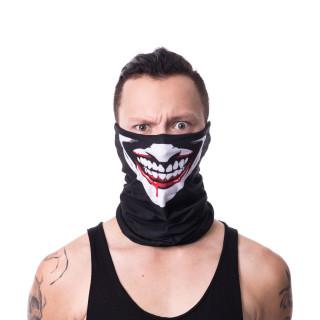 Snood (masque) gothique noir style clown sanguinaire