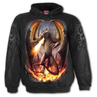 Sweat capuche homme à dragon libéré de sa prison