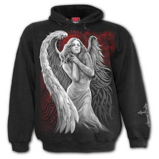 Sweat capuche homme gothique à ange désespéré