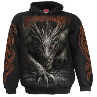 Sweat capuche homme gothique à Dragon Majestueux