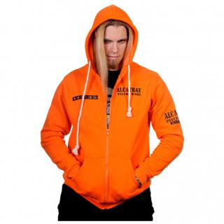 "Sweat capuche homme orange prisonier ""Alcatraz"" - Banned"