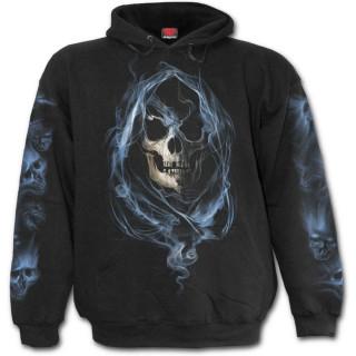 Sweat-shirt homme gothique avec La mort entourée d'âmes