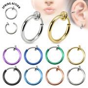 4de520a5eeb Faux piercing anneau oreille ou nez (sans perçage)