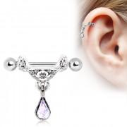 Piercing cartilage h�lix � pendentif style tiare celtique