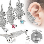 Piercing tour d'oreille en forme d'aile d'ange