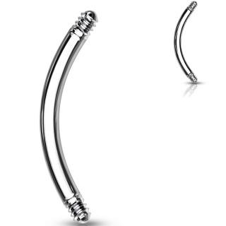 Tige / barre de remplacement courbée en acier pour piercing