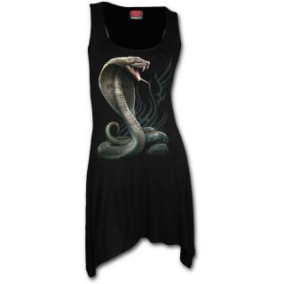 Tunique goth-rock à serpent cobra sur fond tribal