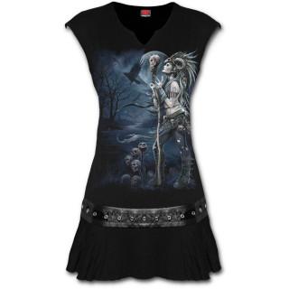 Tunique gothique noire à Reine des corbeaux